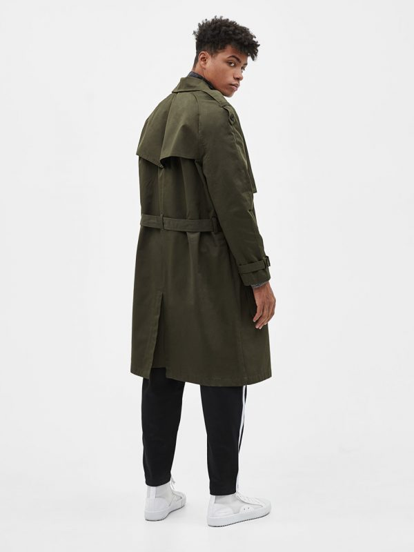 Trench-style coat