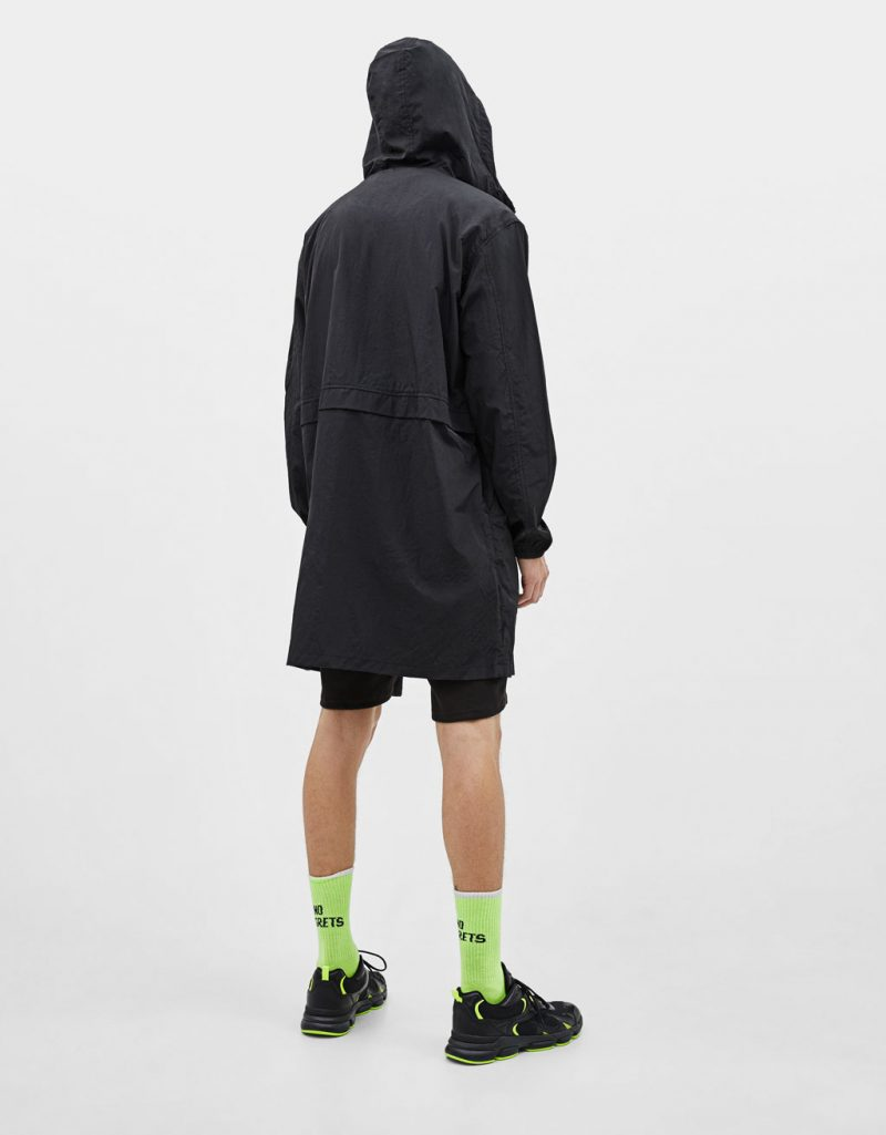 Hooded nylon parka