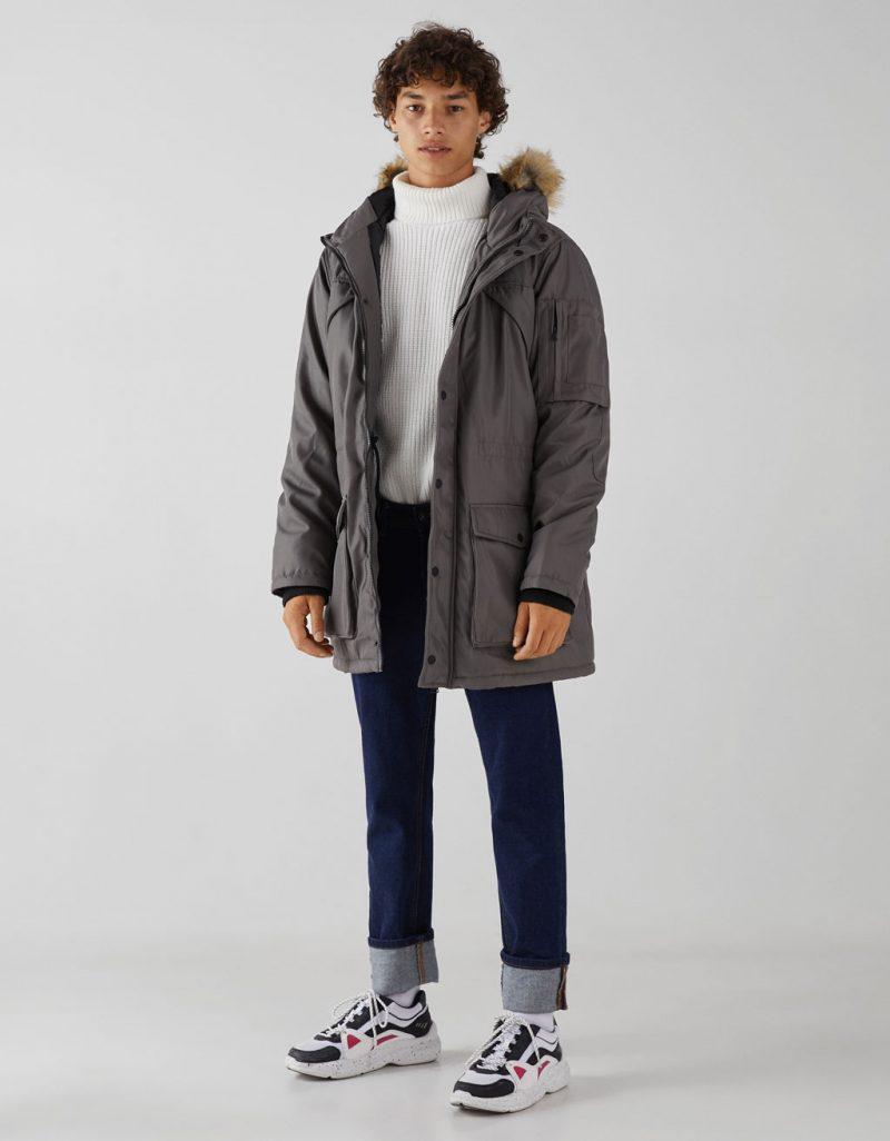 Parka with hood