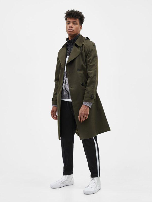 Trench-style coat