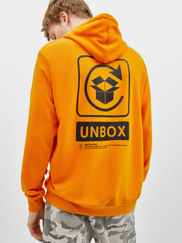 Printed sweatshirt with hood